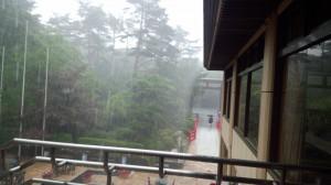 大雨の青葉城